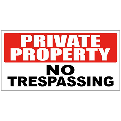 Private Property No Trespassing Decal Sticker Retail Store Sign   4 5 X 12 Inches