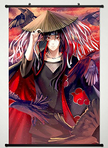 Wall Scroll Poster Fabric Painting For Anime Naruto Uchiha I