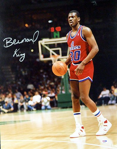 cc425ebf5ef2 Image Unavailable. Image not available for. Color  Bernard King Signed  16x20 Photo Matted Washington Bullets ...