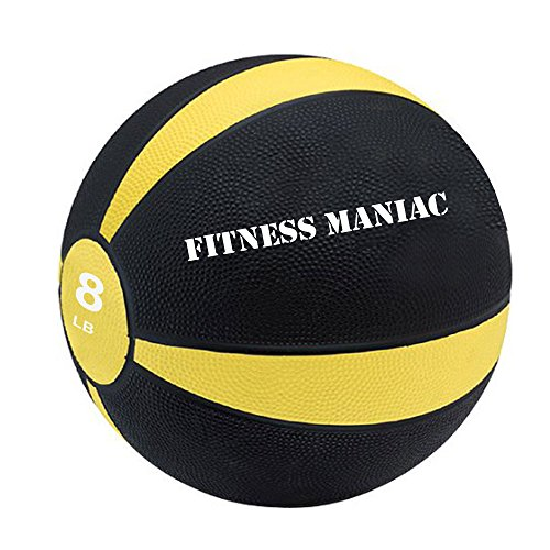 Fitness Maniac Medicine Ball Fitness Muscle Full Body Workout 8 lb