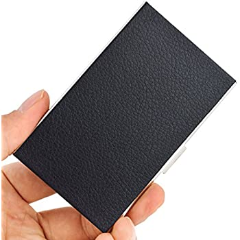 Amazon maxgear black business card case holder for men or women maxgear black business card case holder for men or women keep business cards in immaculate condition colourmoves