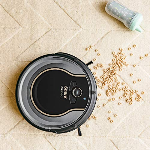 Shark Robot Vacuum WIFI-Connected, Control Robotic Carpet Hard Cleaner, with