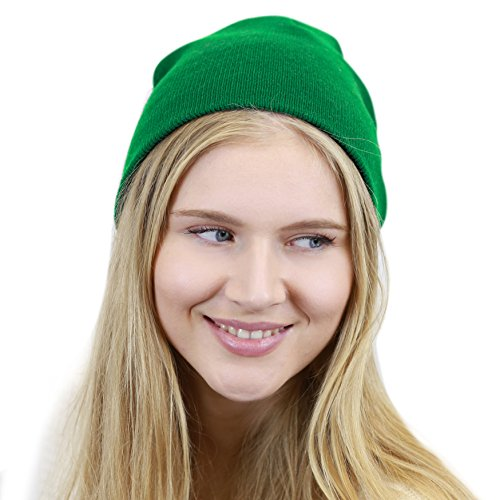 [The Hat Depot Made In USA Skull Beanie Hat (Kelly Green)] (Gnome Hat)