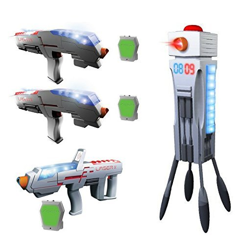 Kids Age 6+ Laser X Tag Double Set, Laser Tag Long Range Bla