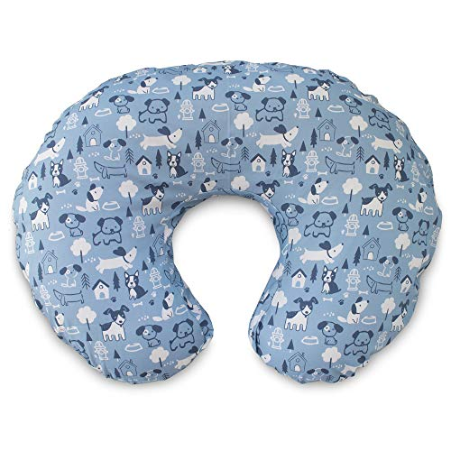 Boppy Original Nursing Pillow Slipcover, Cotton Blend Fabric, Blue Dog Park