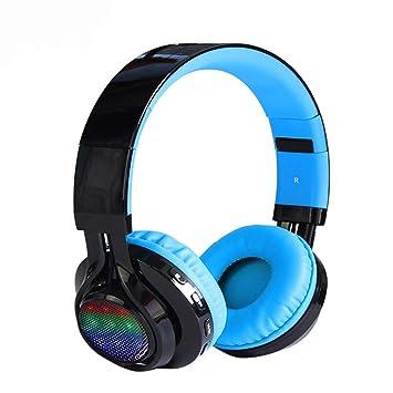 Gaming Auriculares Inalámbricos, Bluetooth Overhead Auricular Ruido Perimetral Cancelación para PC/Nintendo Switch/PS4/Xbox Uno/iPhone/Teléfono Android ...