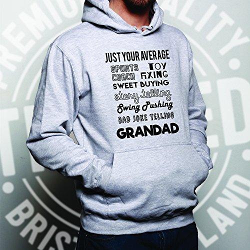 A soli le vostre qualità media nonno Super Eroe Unisex Con Cappuccio