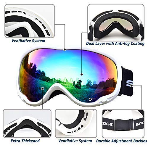 57dac1a088a HUBO SPORTS Ski Snow Goggles for Men Women Adult