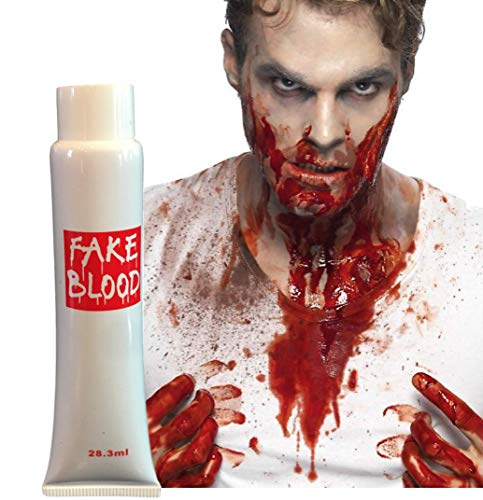 Plum Nellie's Treasures Halloween Blood - Fake Blood for Halloween Costume - Scary Bloody 1, 2 or 4 Tubes (1 - Tube) (Blood Tube Fake)