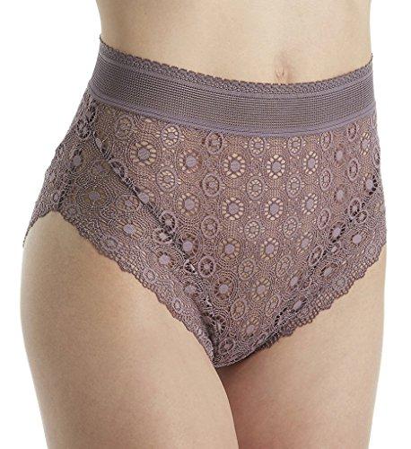 Else Lingerie Coachella Lace High Waist Brief Panty (EC-335U) XS/Plum Blossom