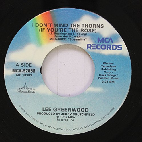 Lee Greenwood 45 RPM I Don't Mind The Thorns (If You're The Rose) / Same Old - Greenwood In Mall