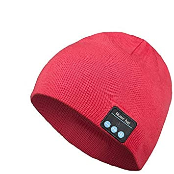 10ce2a5a3 Bluetooth Beanie Hat, Wireless Headphone Beanie, Gifts for Men and Women,  Winter Knitting Beanie Cap Bluetooth Earphones, Built-in Microphone ...