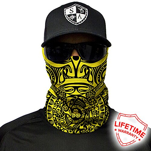 SA Company Face Shield Micro Fiber Protect from wind, dirt and bugs. Worn as a Balaclava, Neck Gaiter & Head band for Hunting, Fishing, Boating, Cycling, Paintball and Salt lovers. - Shop Sa