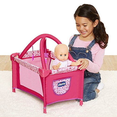 Chicco Deluxe Playard for Baby Dolls, [Amazon Exclusive] , Pink