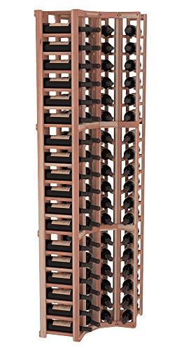 Wine Racks America Redwood 4 Column Wine Cellar Corner Kit. Unstained