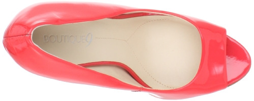 Toe Women's Pink Boutique Nosey Patent Med 9 Peep Aaxa8WqIw