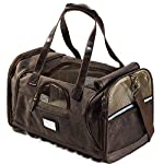 Next Level Pet Soft Sided Carrier, Chocolate Leather, Small Dog & Cat Approved
