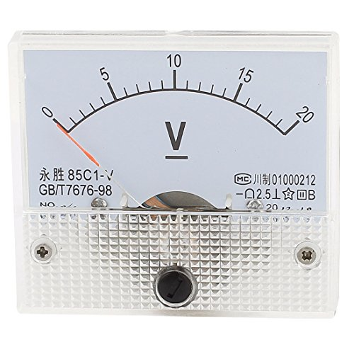 uxcell 85C1-V Panel DC Voltage Volt Analog Gauge Meter Voltmeter 0-20V