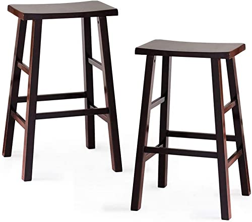 Cambridge Casual Solid Wood Lucca Bar Stool Set of 2, 29-Inch, Dark Espresso