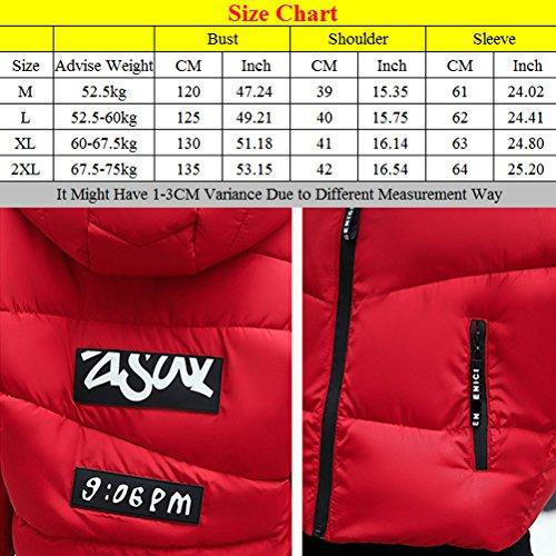 Zhhlaixing Abrigo de moda Short Style Cotton Clothing Autumn and Winter Loose Jacket Students Coat Black