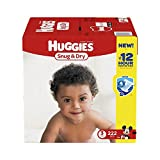 Branded HUGGIES Snug & Dry Diapers, Size 3, for 16-28 lbs., One Month Supply (222 Count) of Baby Diapers, Packaging May Vary diapers - Genuine & Soft Baby diaper, Fast Delivery