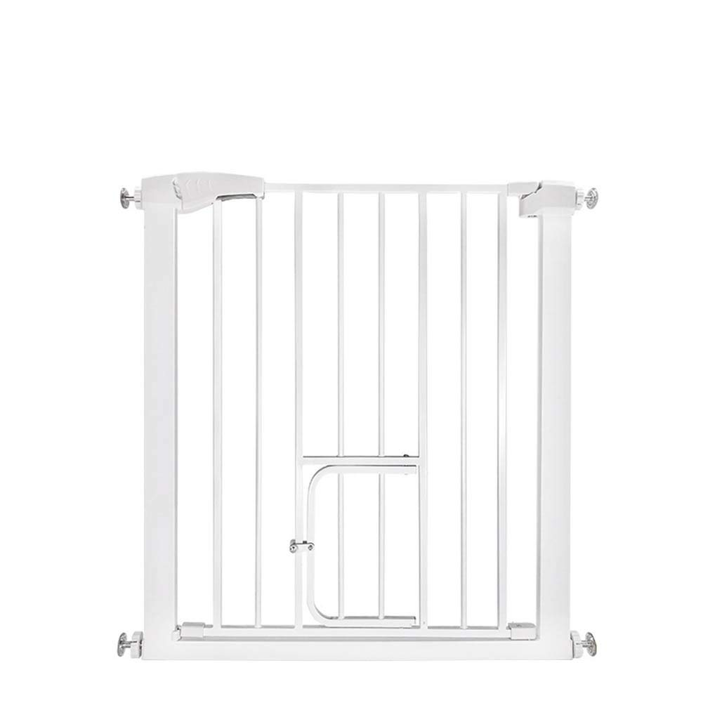 +10cm Auto Close Stair Gate Pet Extending Metal Safety Gate 3 in 1 Playpen,fireguard, and Room Divider 75 to 82cm(+7-80cm) Without Drilling with Small Door (Size   +10cm)