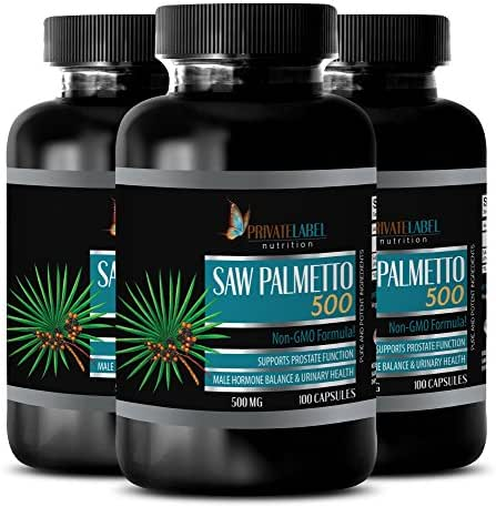 prostate support prostate supplement - SAW PALMETTO 500 - NON GMO FORMULA - saw palmetto 500mg complex 100 capsules - 3 Bottles 300 Capsules