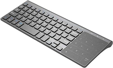 CVERY Teclado Inalámbrico Touch, 2.4G USB Teclado Universal ...