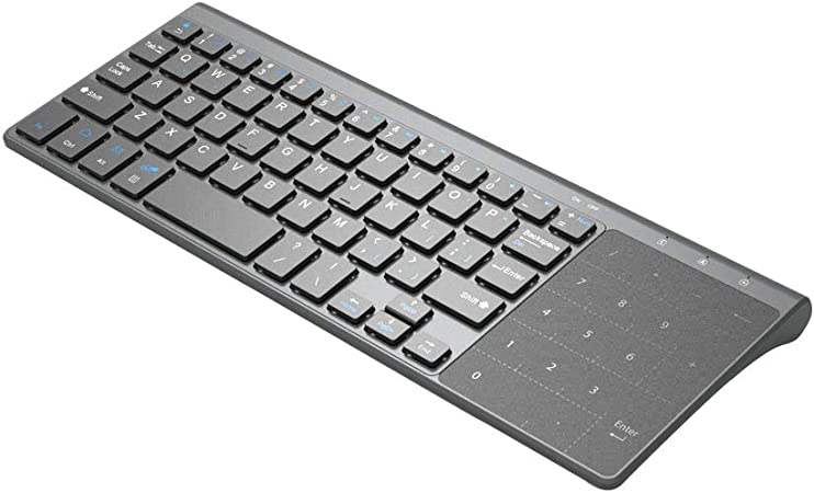 Alicer Mini Teclado inalámbrico con Touchpad, Teclado ...
