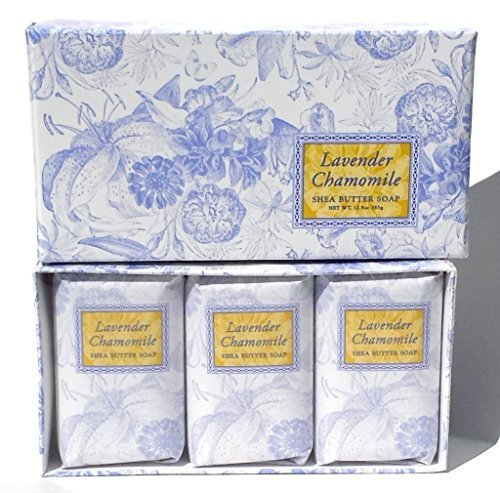 Shea Butter Vegetable Soaps - Greenwich Bay Trading Co. Shea Butter Soap, 12.9 Ounce, Lavender Chamomile, 3 Pack