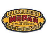 Large 7 1/2'' X 4'' Mopar Embroidered Patch - Vintage Logo Design - Wax Backing - Non Merrowed