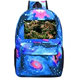 Walking Dinosaurs Aves Star School Bag Fashion Satchel Galaxy Shoulder Backpack for Student Boys Girls