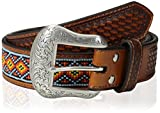 Nocona Men's Yellow Diamond Bead Inlay