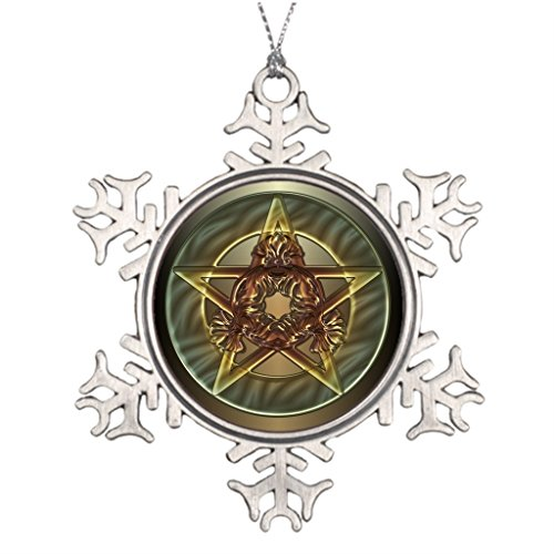 BetheKing Pentacle Pagan Personalised Christmas Tree Decoration