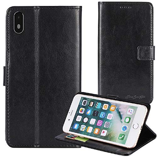 TienJueShi Black Book Stand Premium Retro Business Flip Leather Protector Case Cover Skin Etui Wallet for Archos Access 57 5.7 ()