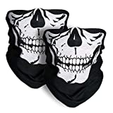 Skull Mask 2 Pieces Xpassion Windproof Dust-proof Motorcycle Face Mask for Out Riding Motorcycle Bicycle Bike
