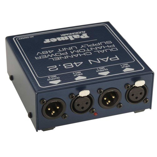 Palmer PAL-PAN48 Phantom Power Supply 2 Channel