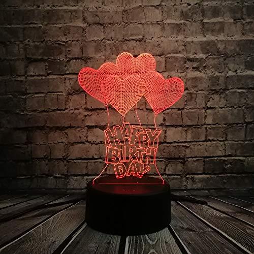 JFSJDF Wholesale Romantic Love Heart Balloon 3D LED USB Lamp Marriage Proposal Wedding Home Decoration Colorful Night Light Gift Gadget]()