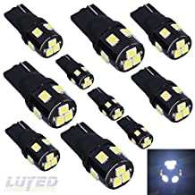 LUYED 10 X Super Bright 2835 9-EX Chipsets W5W 194 168 2825 Led Bulbs,Xenon White