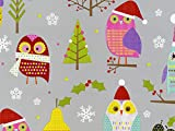 Pack of 1, Hoot for Fruit 26'' x 417' Half Ream Roll Gift Wrap for Holiday, Party, Kids' Birthday, Wedding & Special Occasion Packaging