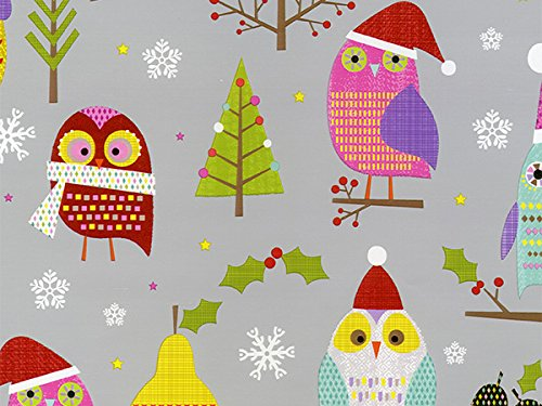 Pack of 1, Hoot for Fruit 26'' x 417' Half Ream Roll Gift Wrap for Holiday, Party, Kids' Birthday, Wedding & Special Occasion Packaging by Generic