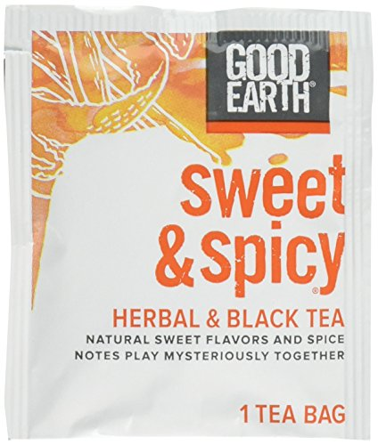 Good Earth Sweet & Spicy Herbal & Black Tea, 18 Tea bags