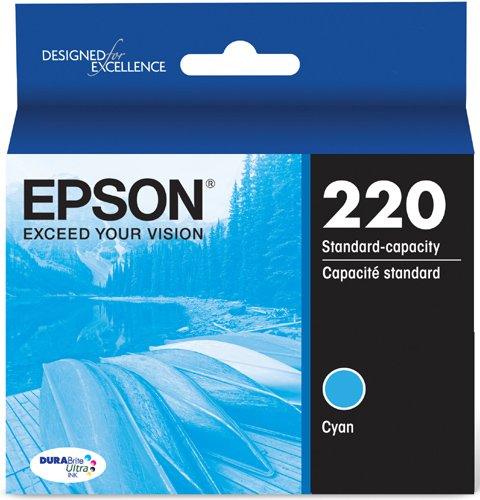DURABrite Ultra Cyan Standard Capacity Cartridge Ink (WF-2760, WF-2750, WF-2660, WF-2650, WF-2630, XP-424, XP-420, XP-320) - Epson T220220