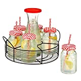 Best Artland Jars - Artland Gingham Beverage Jar Caddy with Carafe, Clear Review