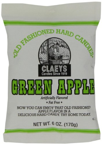 (Claey's Green Apple Drops, 6-Ounce Packages (Pack of 12) )