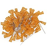 BQLZR Orange and Silver 1.5 Inch Length Dispensing Blunt Needle Tips 23Ga Pack of 100