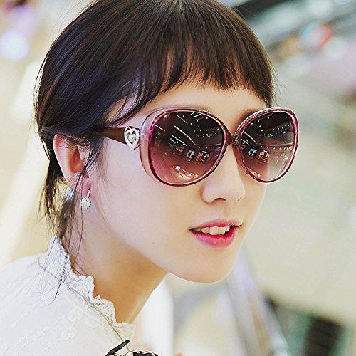 le visage rond korean personnalité star des lunettes des lunettes de soleil de marée des lunettes de soleil mesdames les yeux nouveau cycletransparent noir (tissu) 6CqiXTg