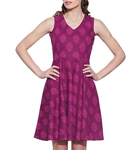 Femmes Apparels Robe en coton imprimé, lavable en machine, W-CPD40-1608, Taille-40 pouces