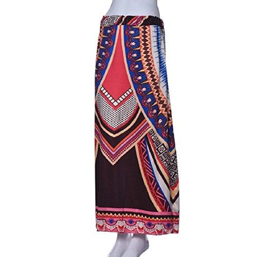 Culater® Femmes Vintage Print Bohemian Maxi Longue Taille Jupes