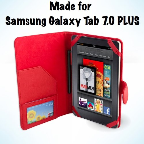 Samsung Galaxy Tab 7.0 Plus 7-Inch Tablet Red Leather Exe...